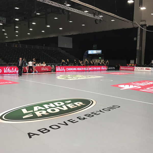 Picture of Grey/Black Roll-Out Vinyl Netball/Basketball Court