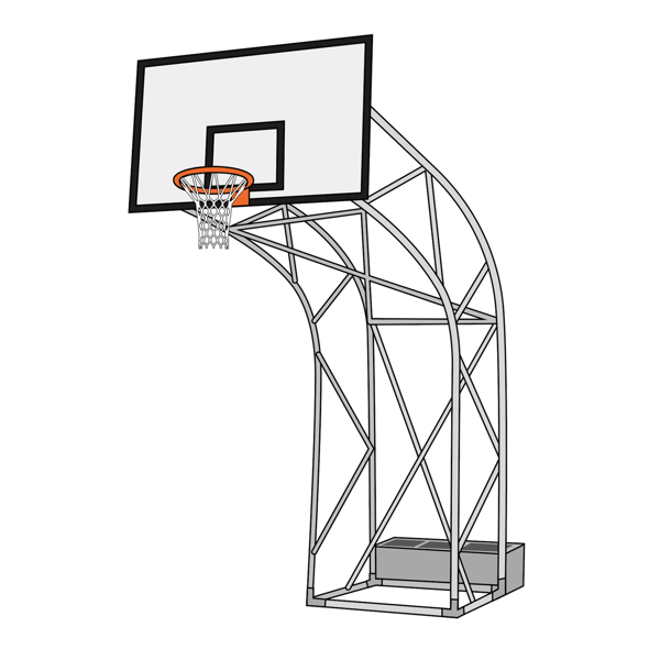 Picture of Olympic Outdoor basketball Unit